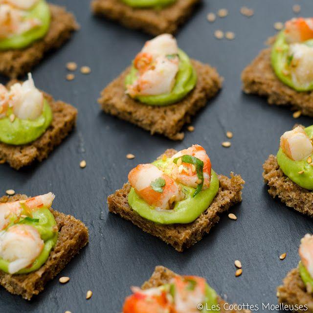 Canapés Apéritifs: Les Cocottes Moelleuses: Les Canapés Avocats-crevettes