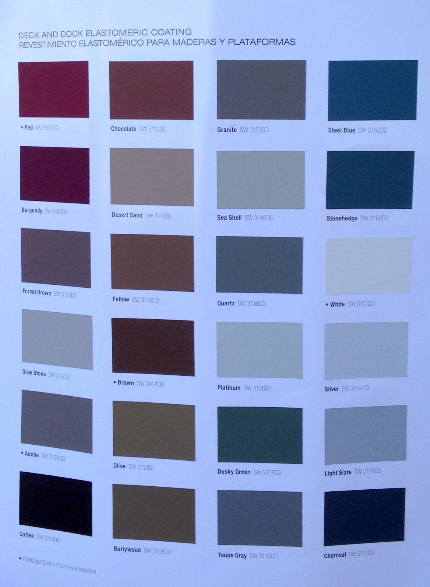 Sherwin Williams Elastomeric Coating Deck Dock Deck Colors Lake Houses Exterior Exterior Paint