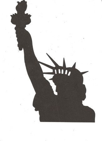 Bust Of The Statue Of Liberty Silhouette By Hilemanhouse On Etsy Silhouette Clip Art Silhouette Stencil Silhouette