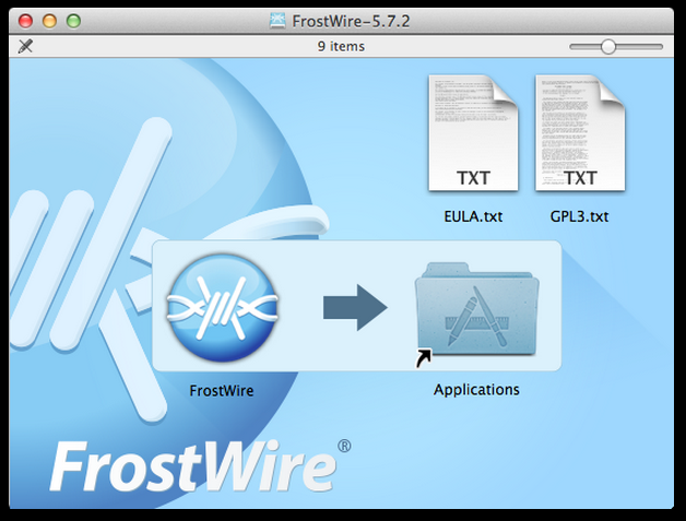 FrostWire Mac Installer screenshot | FrostWire | Mac, Linux