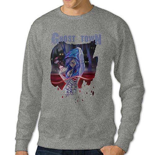 101Dog GHOST TOWN Mens Pullover Sweatshirt Medium Ash