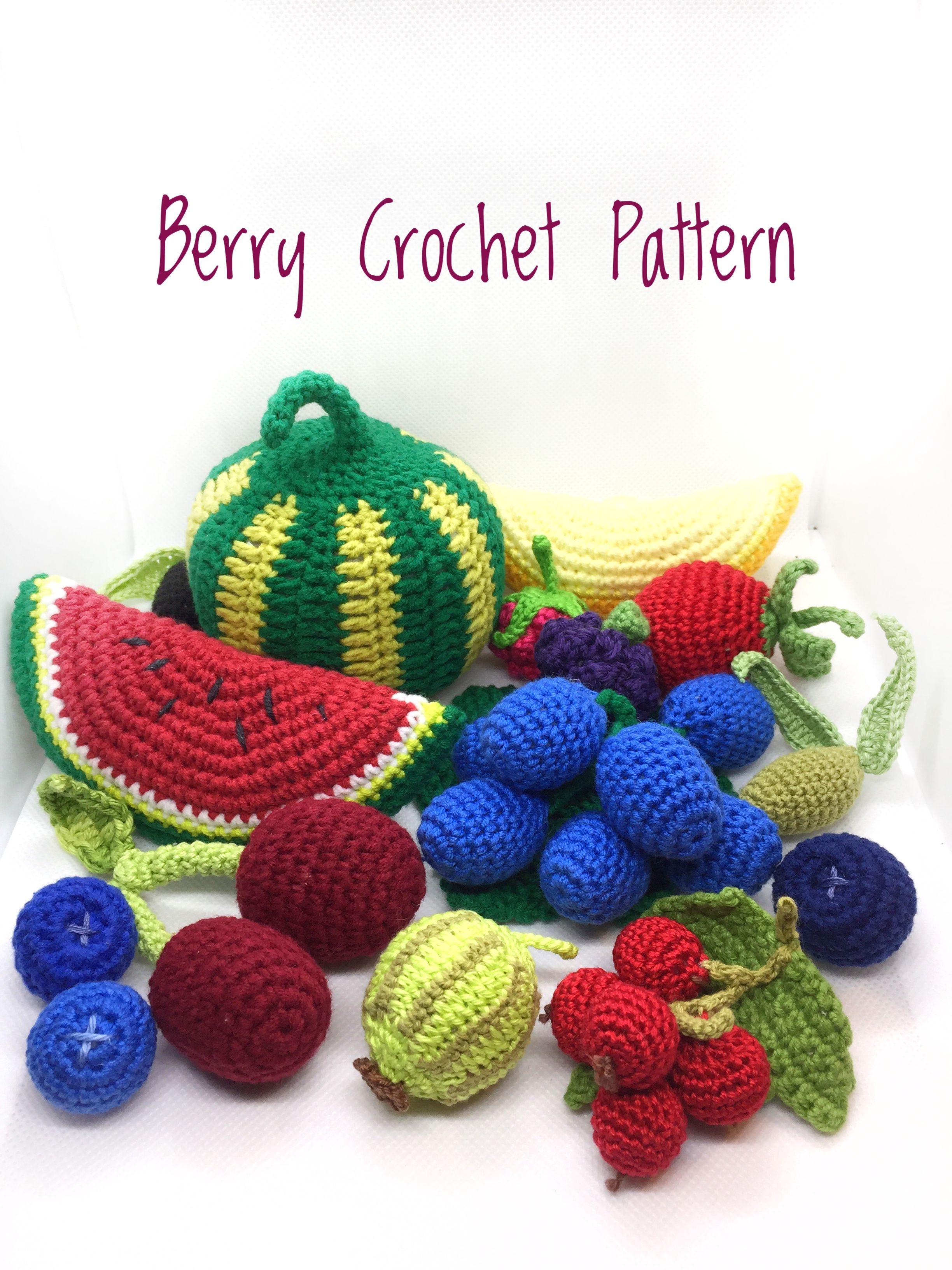 Cherry Crochet Pattern Strawberry Crochet Pattern Blueberry