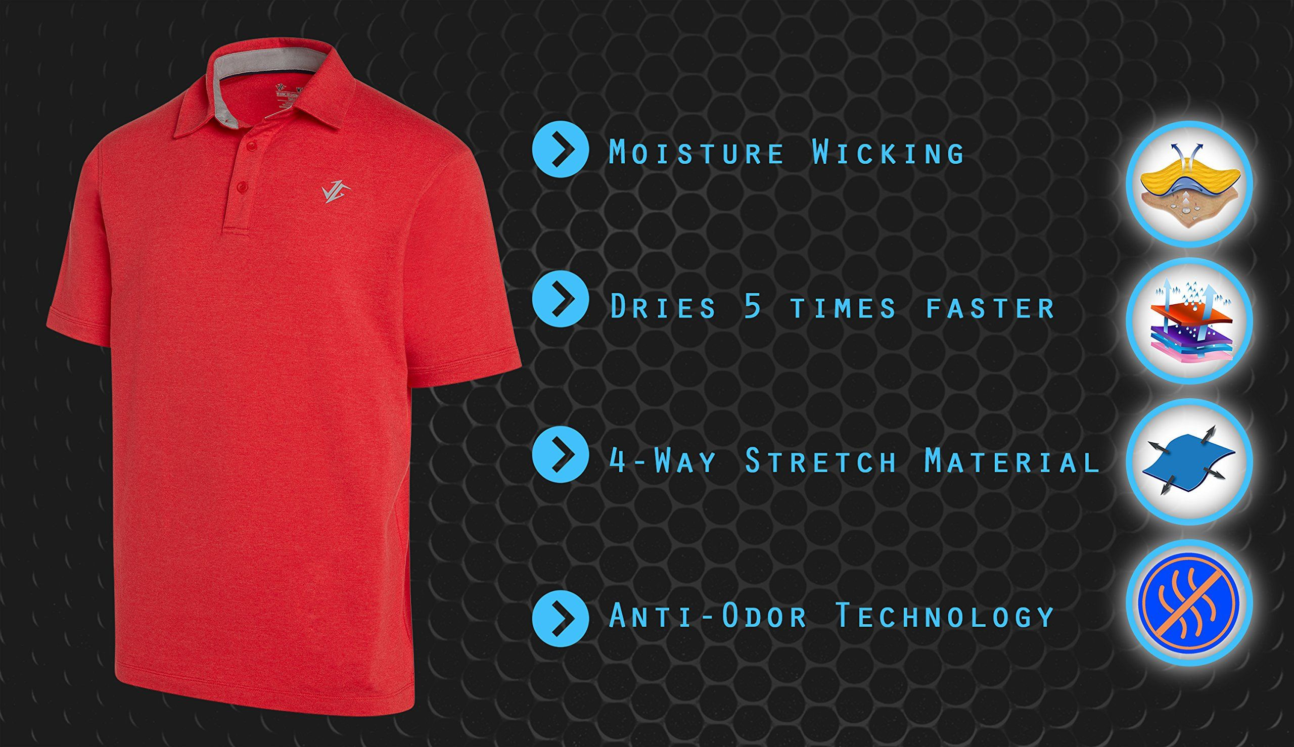 Golf Shirts For Men Dry Fit Cotton Polo Shirt Includes 20 Golfing