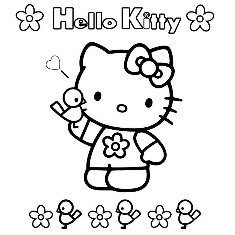 Coloriage Hello Kitty Facile A Imprimer Gratuit Fun For Kids