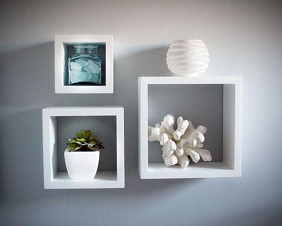 Three Floating Shelves Living Room
