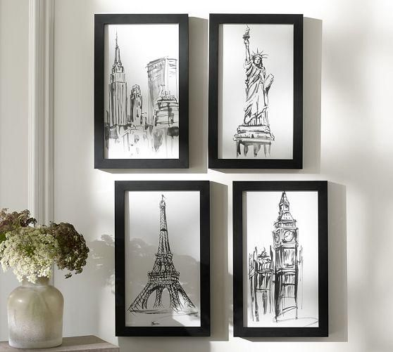 City icon framed prints for the office