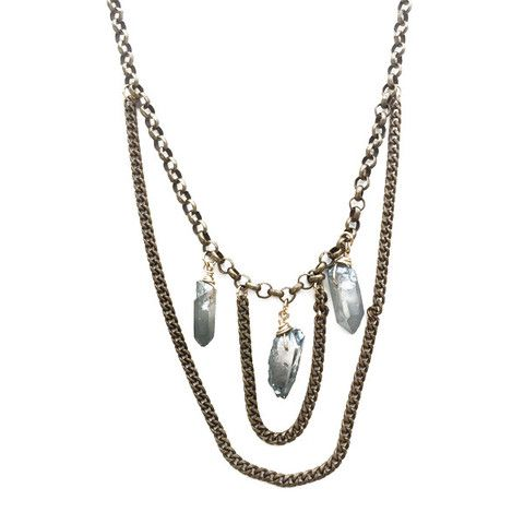Ultra Necklace in Antique Brass
