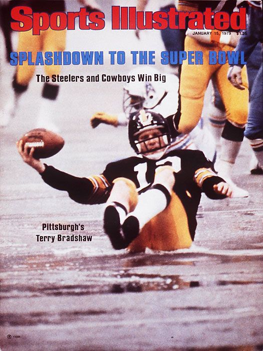 Terry Bradshaw. 1979 AFC Championship game against the Houston OILERS!  Kathy and I were there in the sleet and snow. What a game! This one s for  you 08696f61d