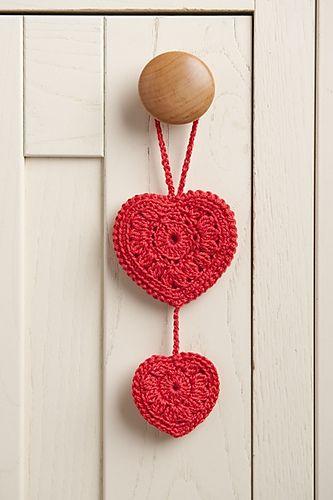 Coração de crochê para pendurar