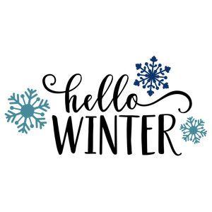 Silhouette Design Store: Hello Winter Phrase