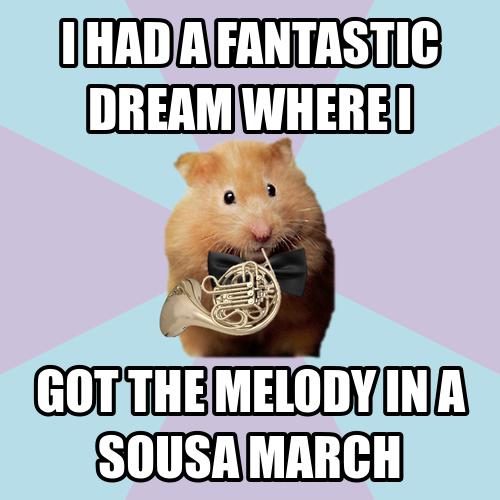 French Horn Memes Hornist Hamster Horn French Horn Band Marches Band Jokes Music Memes Music Jokes