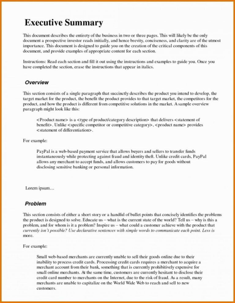 019 Template Ideas Executive Summary For Proposal Business Inside Executive Summary Of A Business Pl Executive Summary Template Executive Summary Memo Template