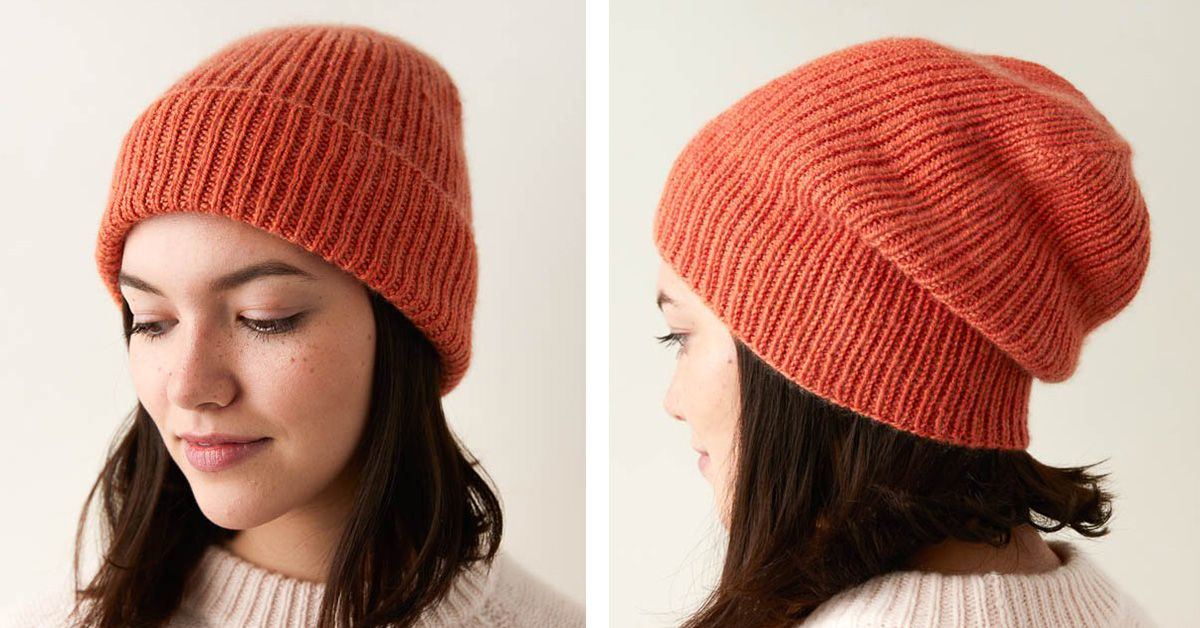 Classic Knitted Ribbed Hat FREE Knitting Pattern in 2020 ...