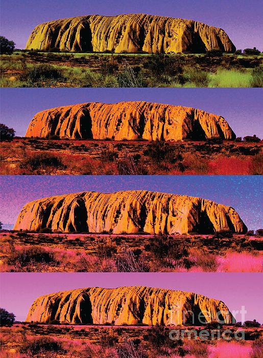 Uluru x 4 Photograph  - Uluru x 4 Fine Art Print