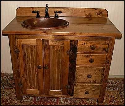 Bathroom Design Gallery On Country Style Wooden Bathroom Vanity Furniture  Design Tips Photos
