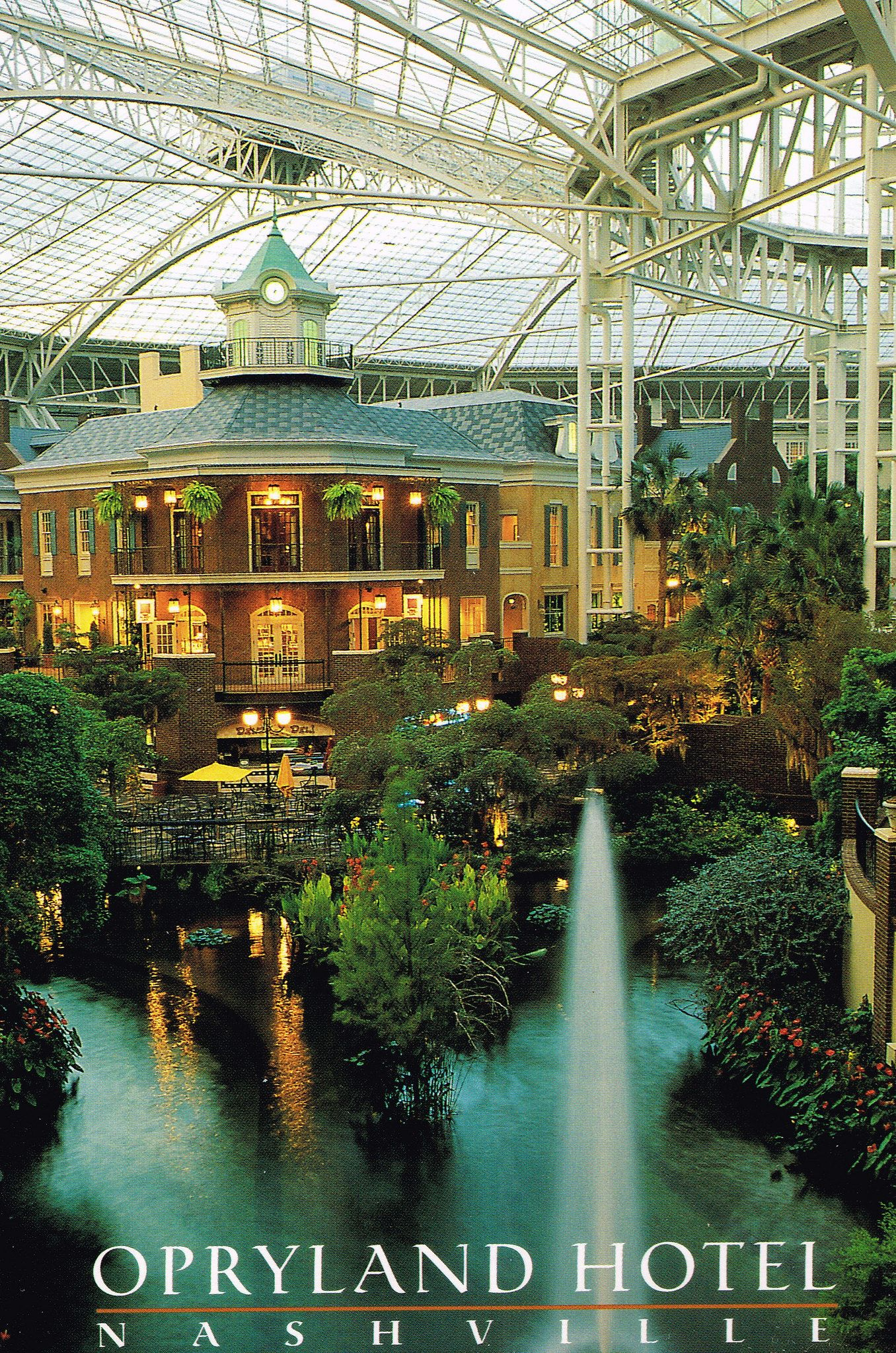 Postcards Opryland Hotel Nashville Tennessee