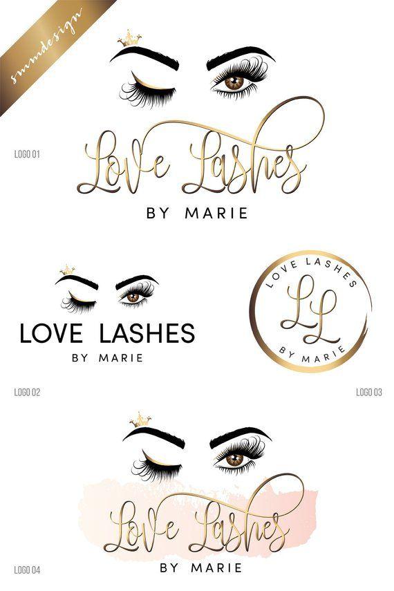 7cd2acdb5d1 Lashes logo design, beauty logo, Logo design, Eyelash logo, makeup logo  design
