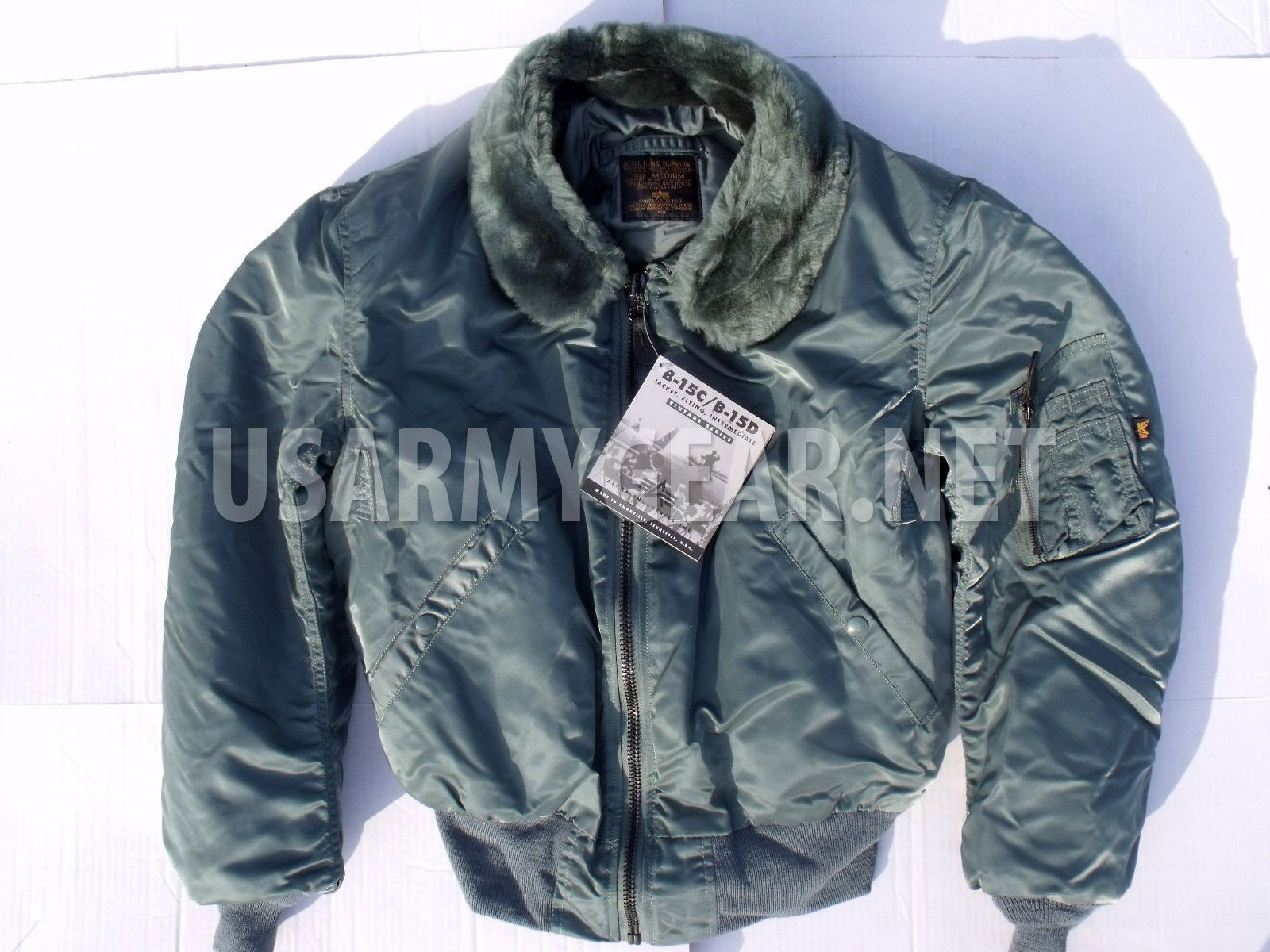 New Vintage ALPHA Industries Made in USA New Oldstock B-15 US Air ...