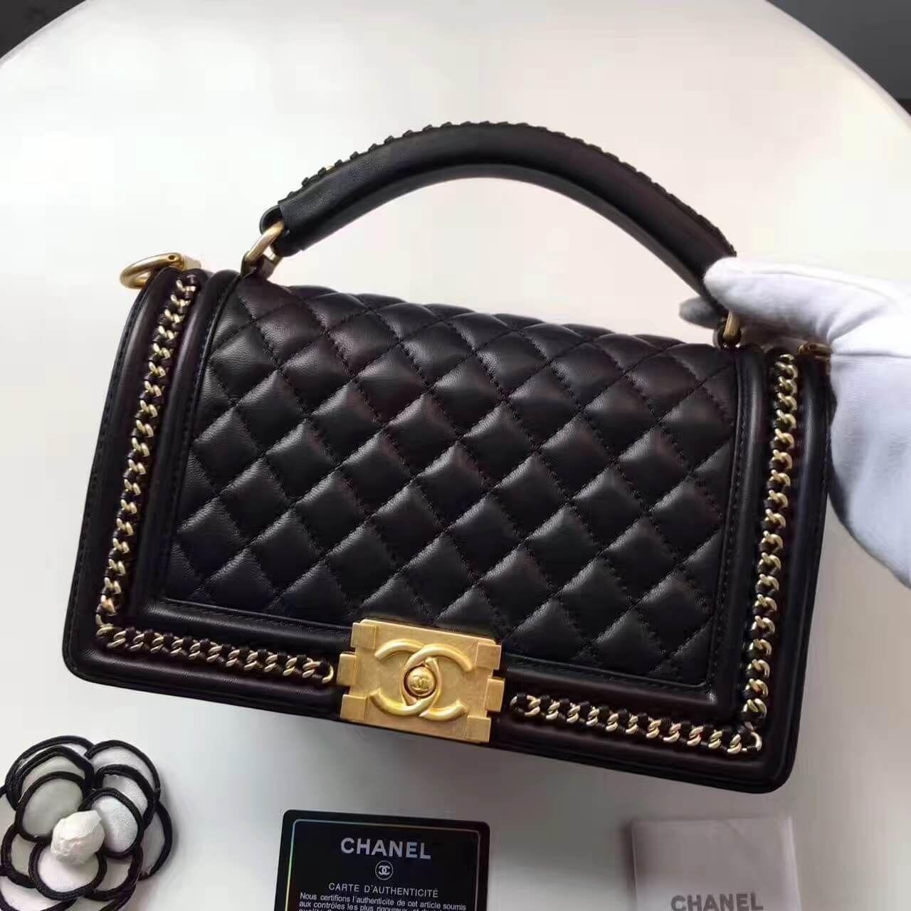 Chanel Lambskin Medium Boy Chanel Handbag Chanel