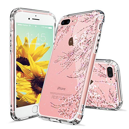 official photos cda72 f2cc1 iPhone 7 Plus Case, iPhone 8 Plus Clear Case, MOSNOVO Cherry Blossom ...