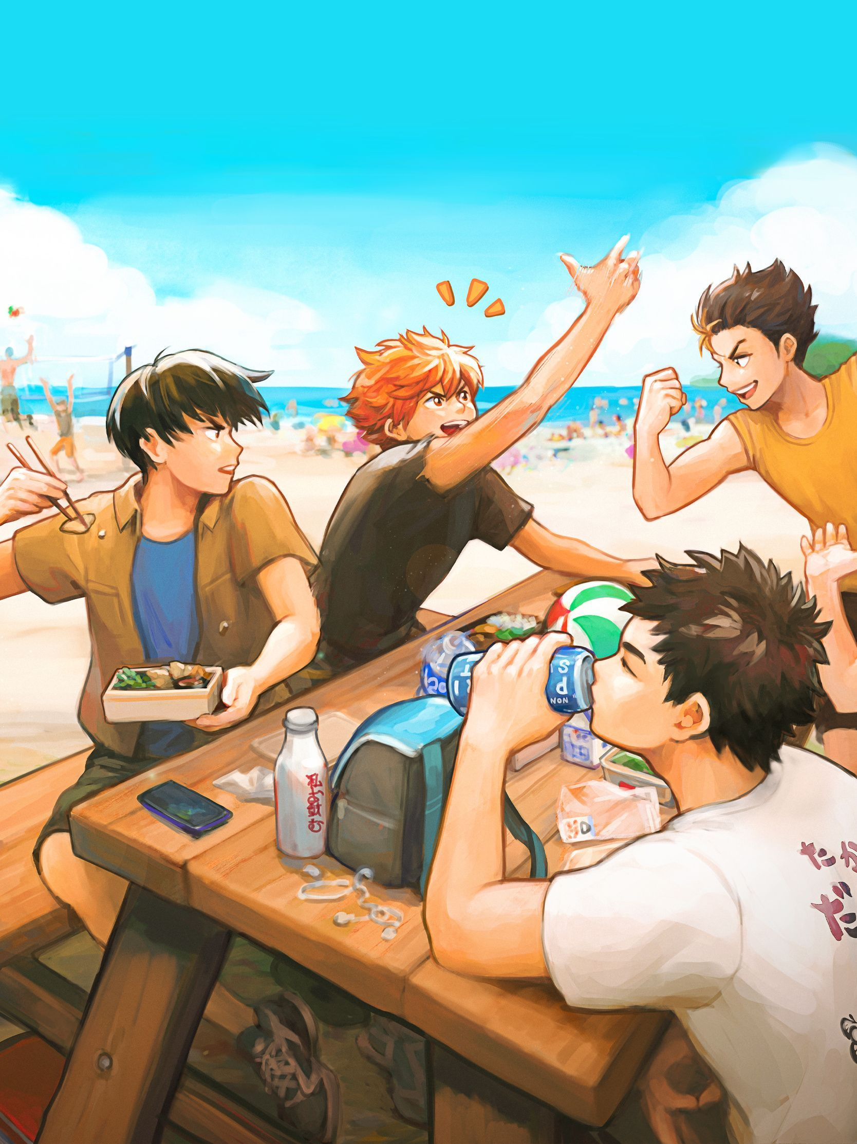 Haikyuu Beach Volleyball Cute Fan Art Print In 2020 Anime Haikyuu Fan Art