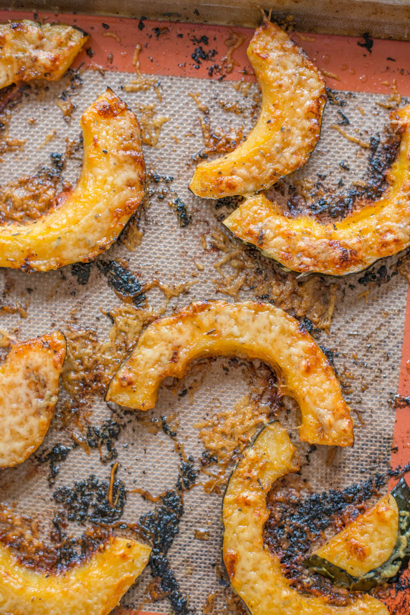 Parmesan Crusted Acorn Squash Salad Parmesan Crusted Acorn
