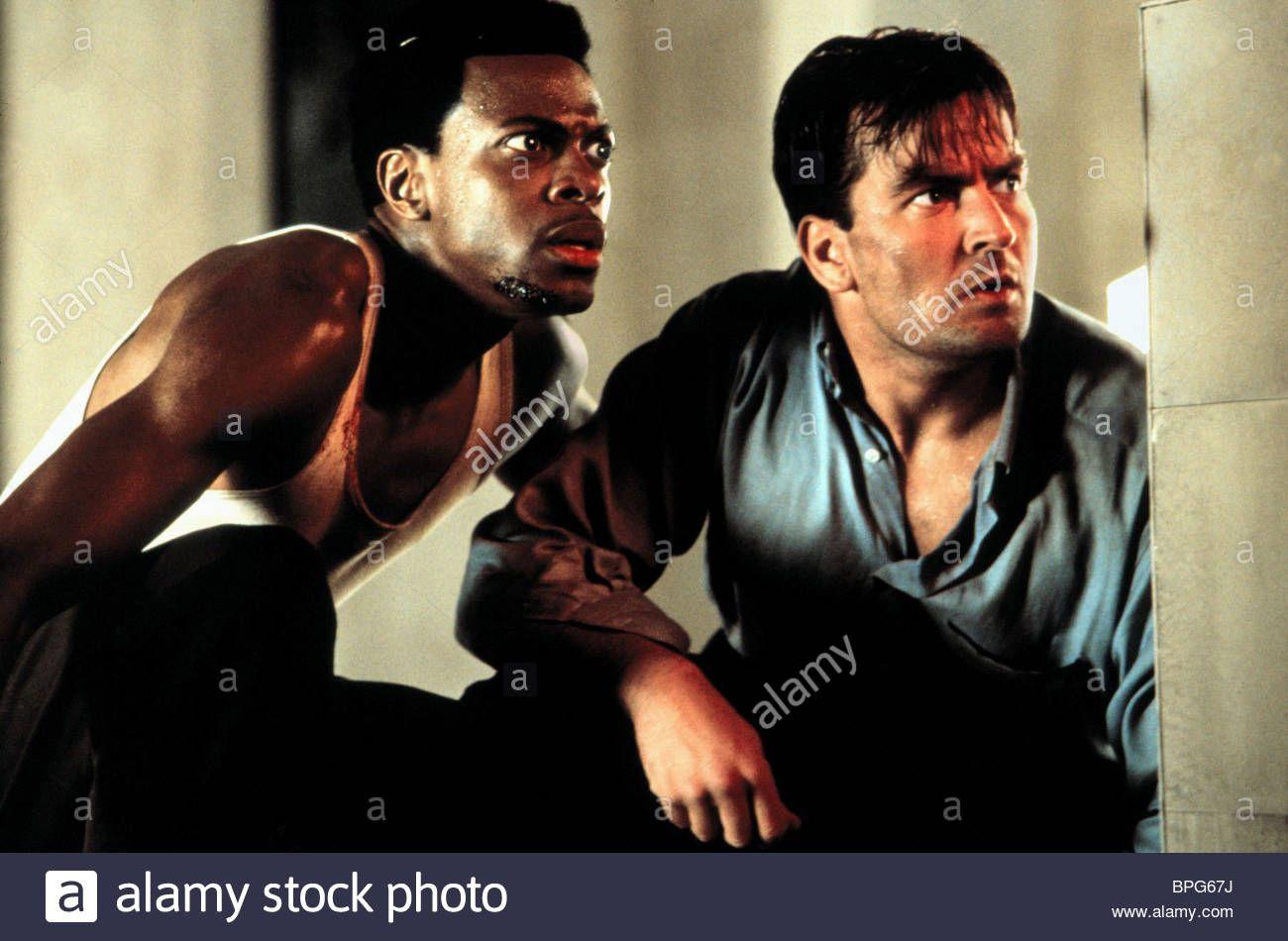 CHRIS TUCKER & CHARLIE SHEEN MONEY TALKS (1997) Stock Photo