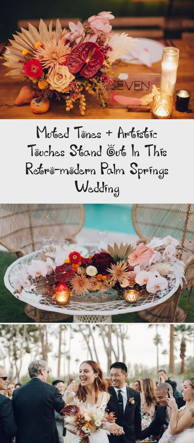 Muted Tones Artistic Touches Stand Out In This Retro Modern Palm Springs Wedding Green Wedding Shoes Weddin In 2020 Palm Springs Wedding Palm Springs Retro Modern