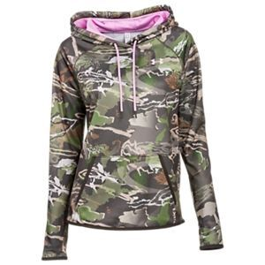 ce52a9fe8 Under Armour Icon Camo Hoodie for Ladies - Ridge Reaper Camo Forest/Ice  Rose - M