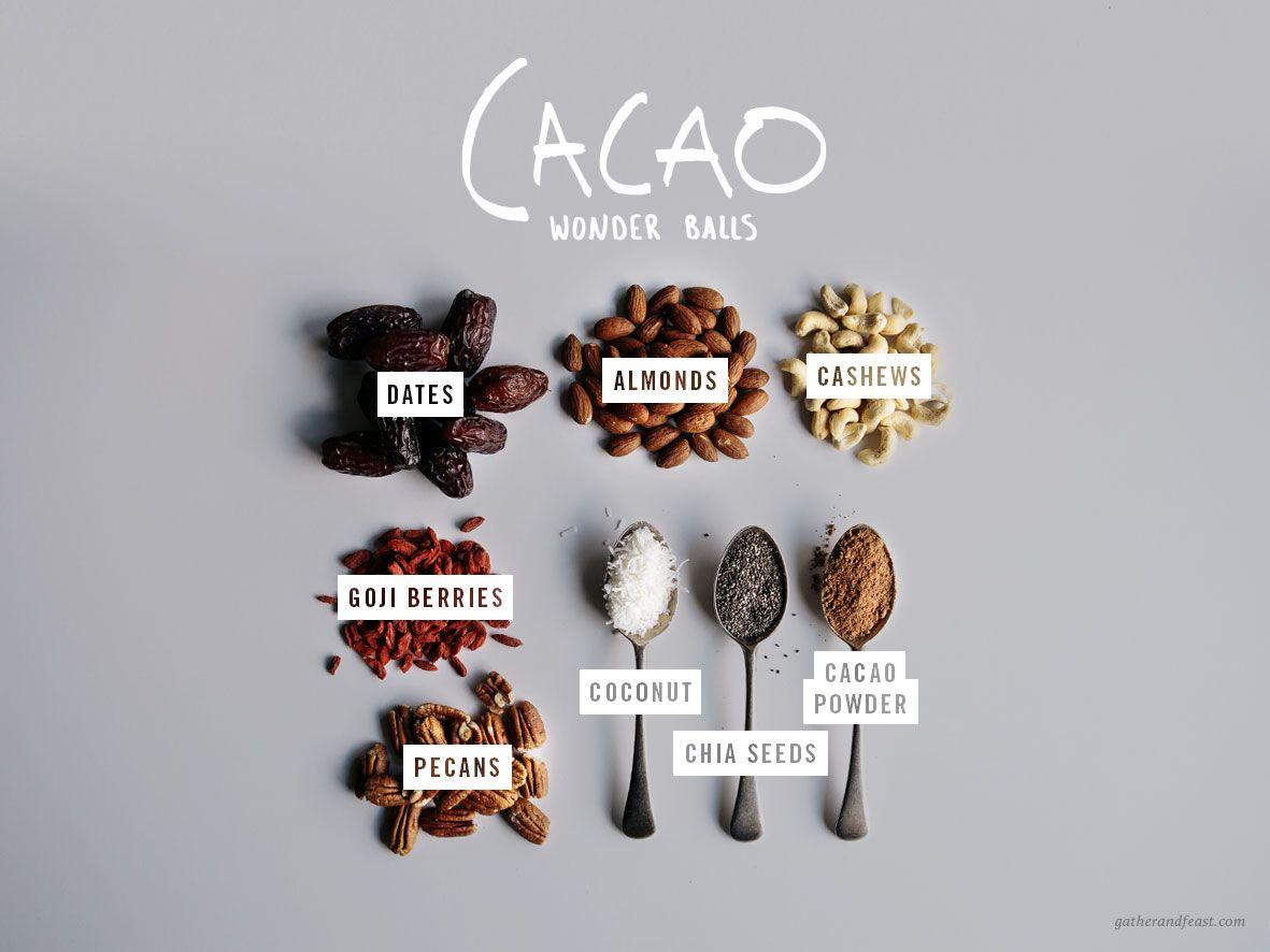 Cacao Wonder chocolate  Balls - Gather & Feast