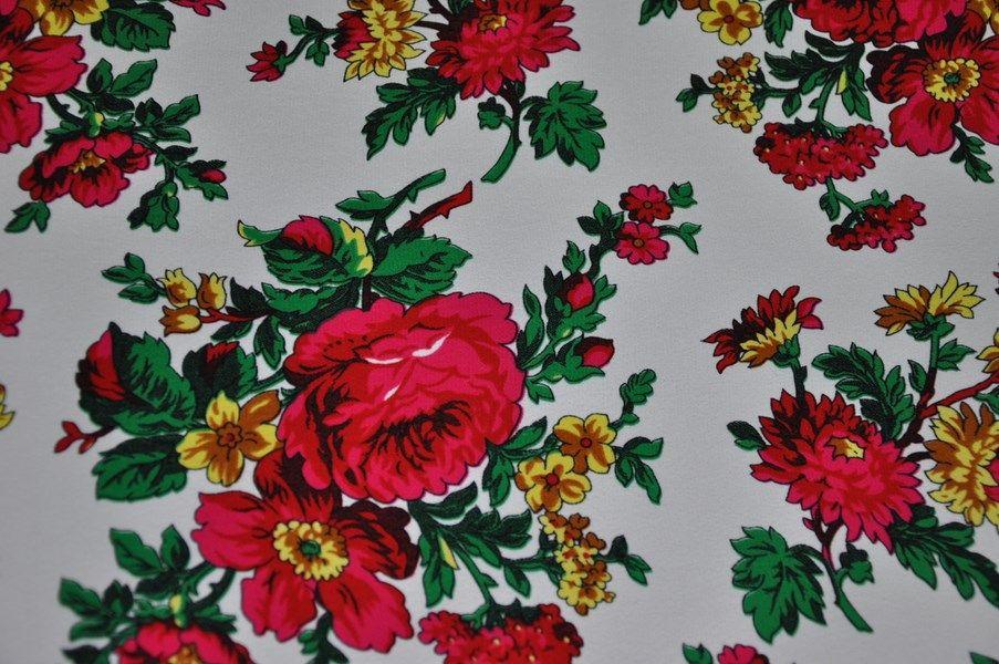 Tkanina Goralska Folk Wzor Bukowianski Hit Paper Flowers Background Patterns Folk