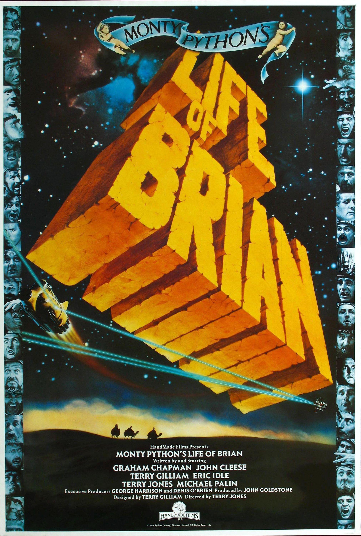Cartel Inglés de La vida de Brian