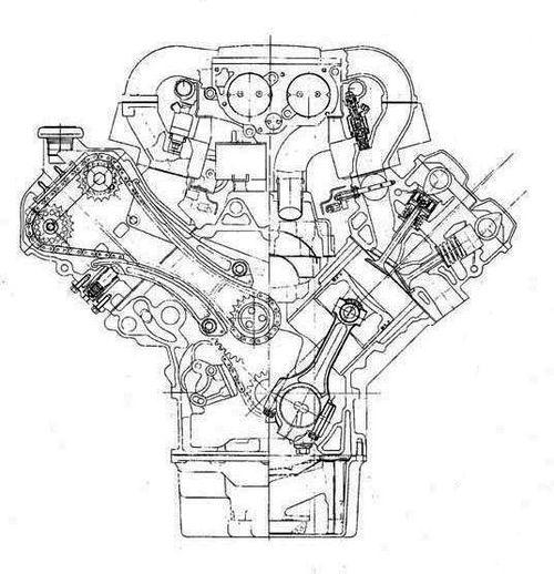 kuvahaun tulos haulle jaguar v12 engine development blueprints