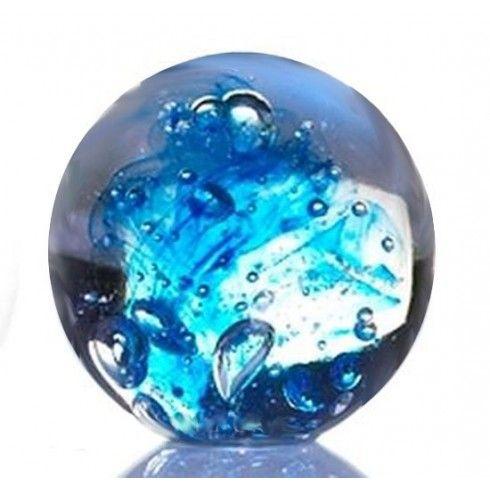 Cobalt Glass Sphere Keepsake Urn