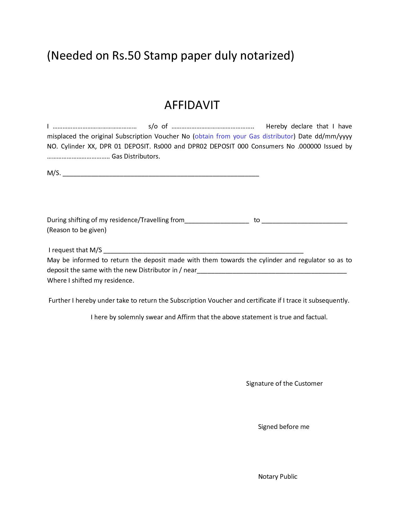 Download Affidavit Form for free Page includes various formats of – Free Affidavit Forms Online