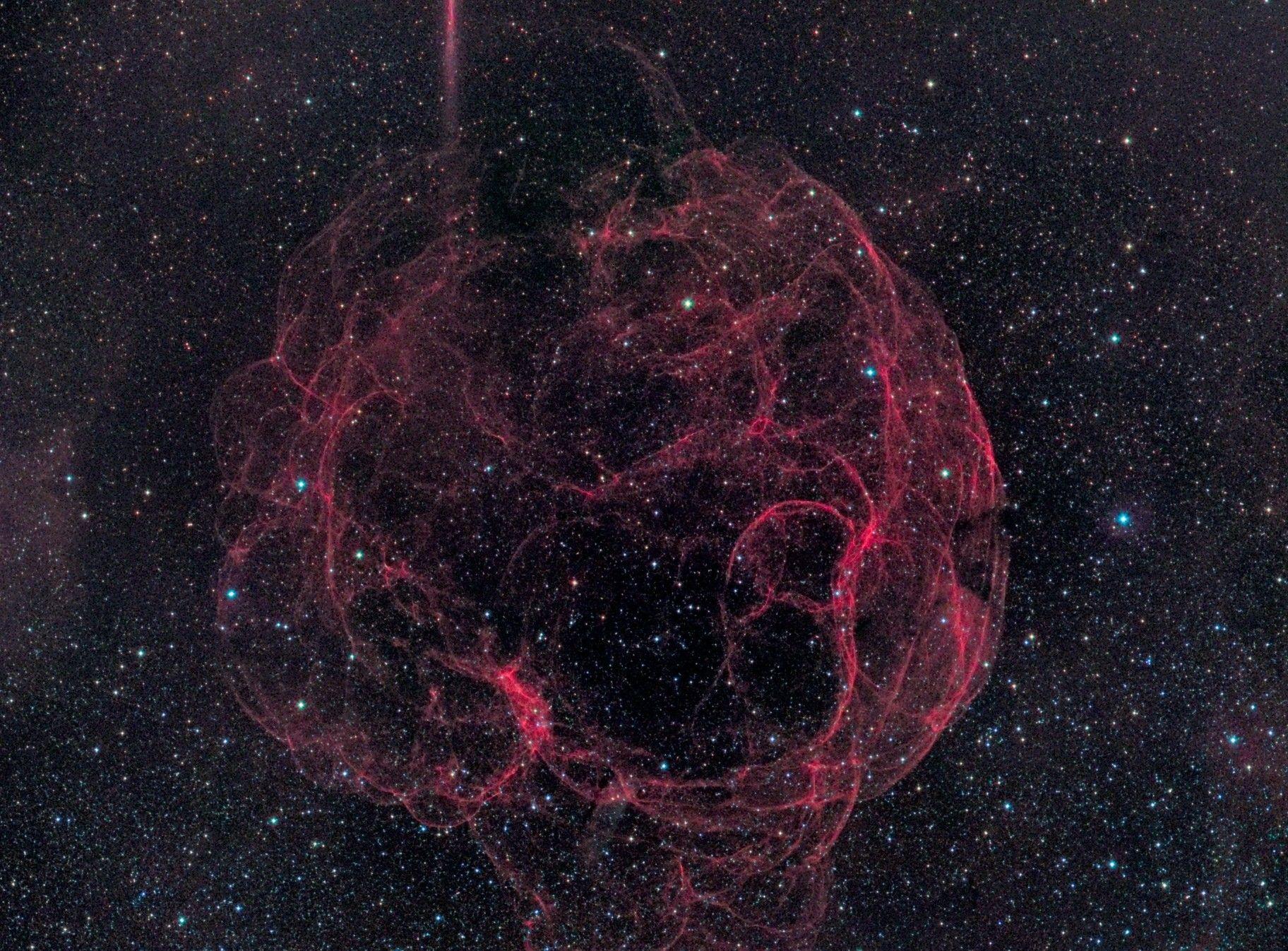 Остаток сверхновой SH2-240 Техническая карточка Объектив
