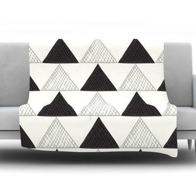 "East Urban Home TextuTriangles by Laurie Baars 60"" Fleece Blanket"