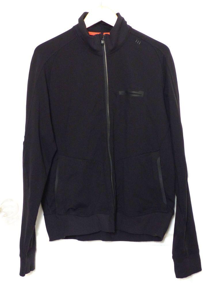 8e27c7829 A Lululemon Mens XXL Full Zip Black Stretch Athletic Casual Jacket ...