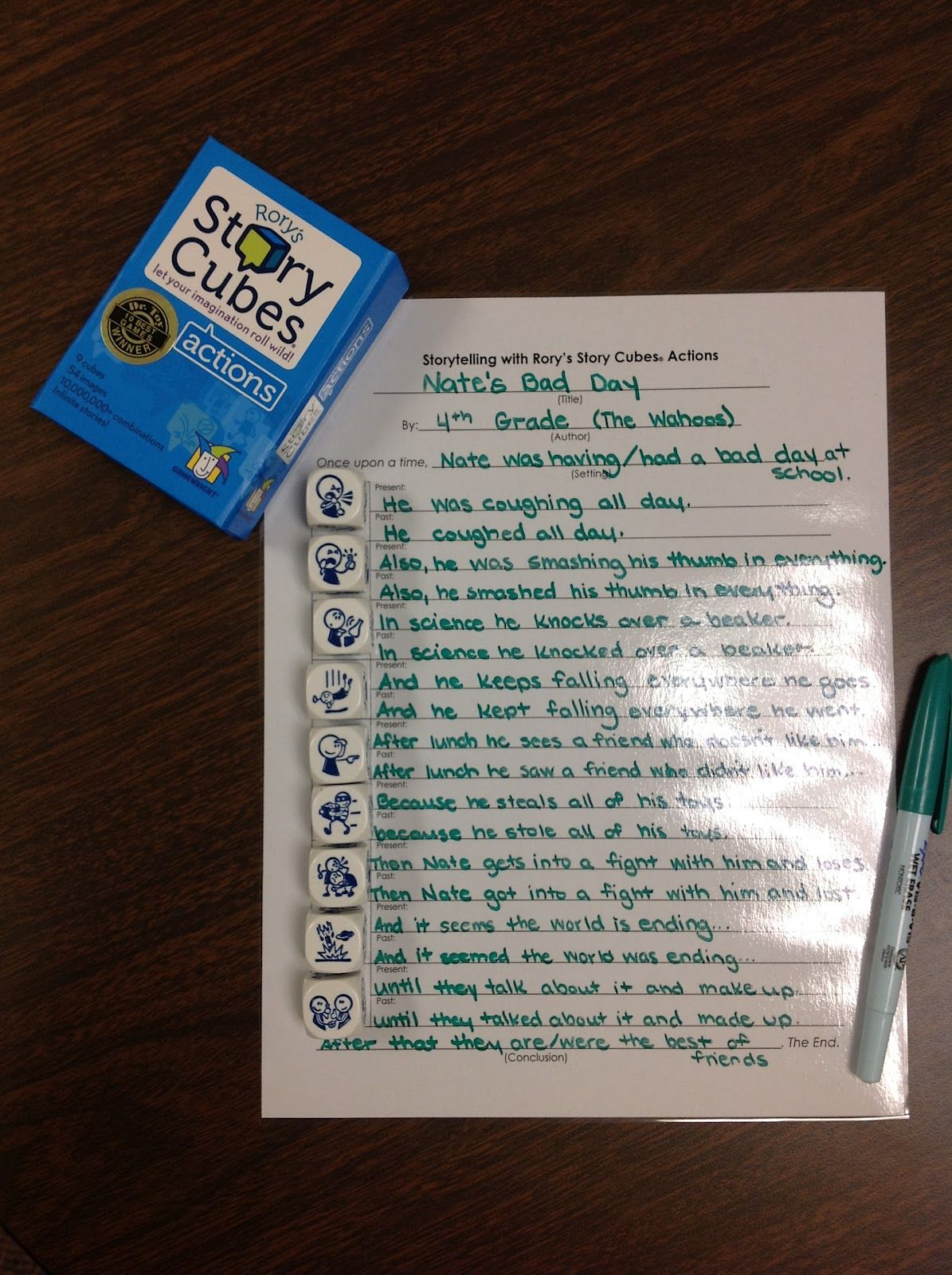 Use Story Cubes To Write Past Present And Future Tenses Of