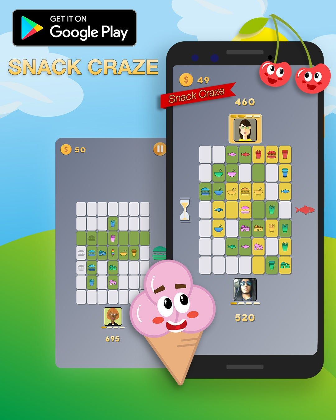 Snack Craze, a puzzler inspired by PopCap's Alchemy and