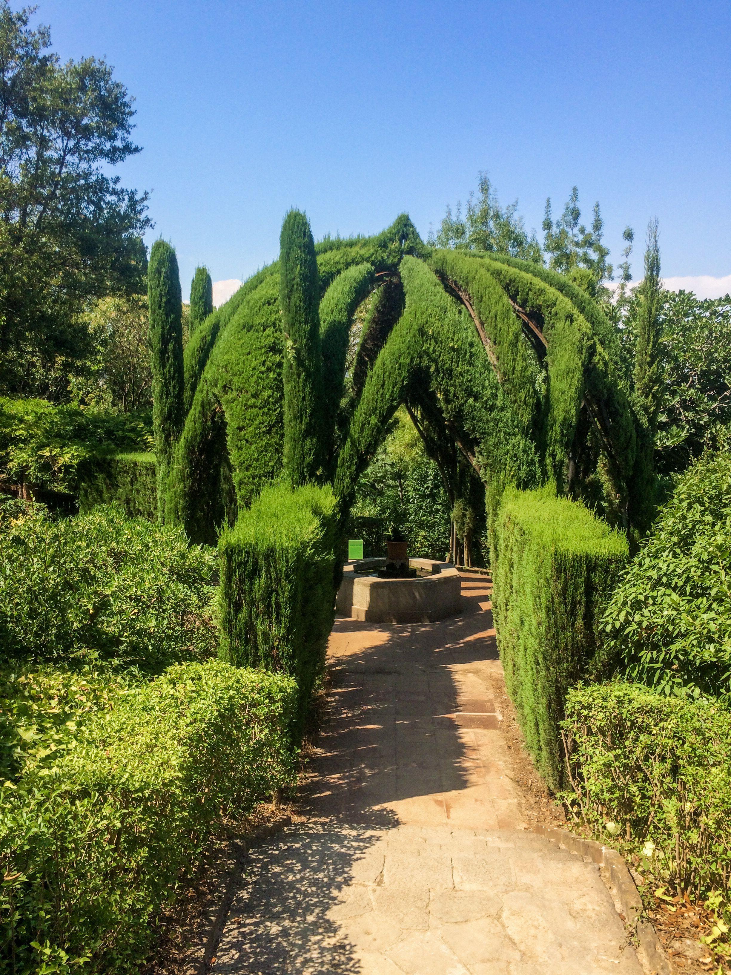 Exploring Jardines de Laribal. #bcn #barcelona #gardens # ...