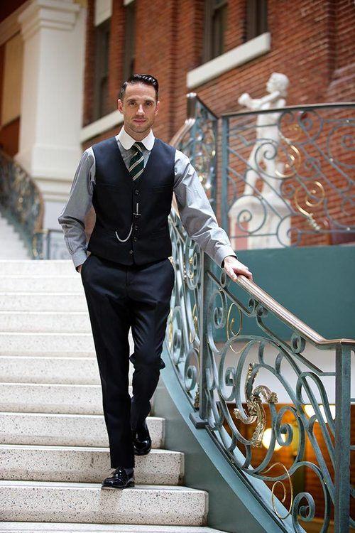 Black Waistcoat and Pants via He Spoke Style