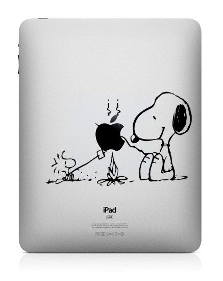 Snoopy iPad Decal iPad Stickers iPad Decals Apple by iMacbookskin ...