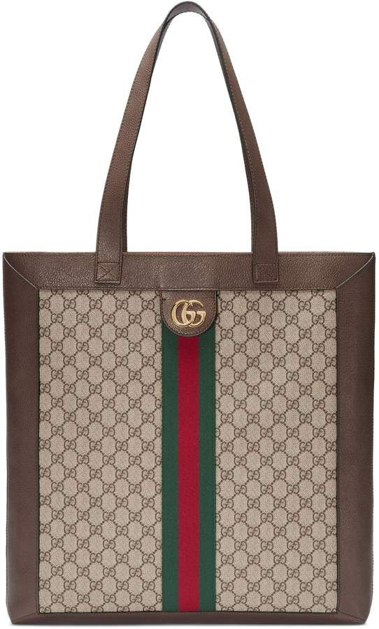 e95588c8ae3 Gucci Large GG Supreme Canvas Tote