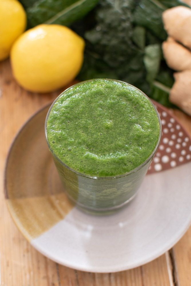 Green Detox Smoothie with Ginger & Lemon Green Detox Smoothie with Ginger & Lemon anoliveaday eatan