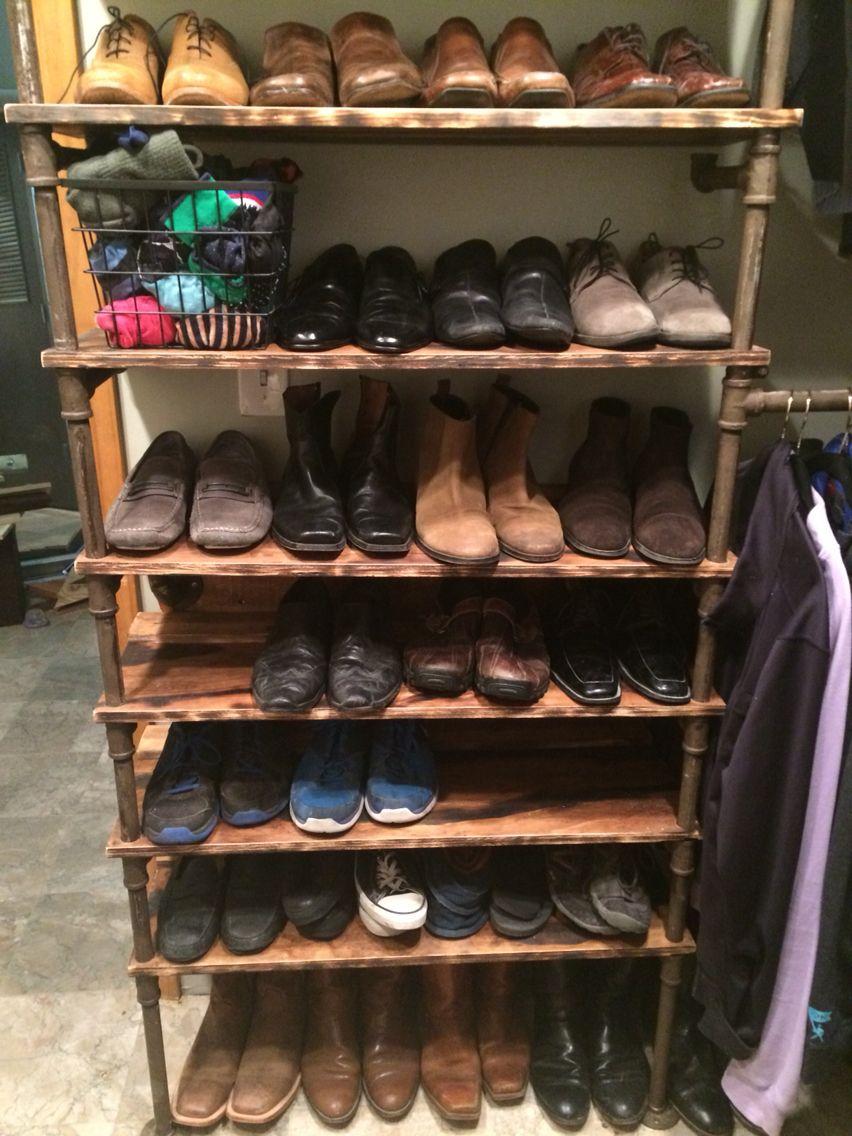 Rustic style closet