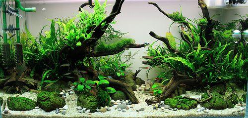 Aquarium Fish Tank Aquascape Decorative Lifelike Tree Green w// Resin Base
