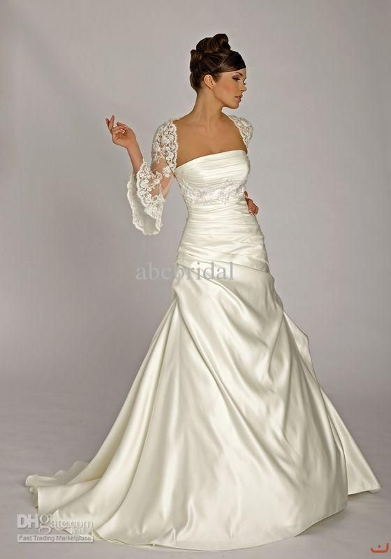 Fancy Wholesale Ball Gown Wedding Dresses Buy Lace Jacket Strapless Applique Pleated Satin Lisa