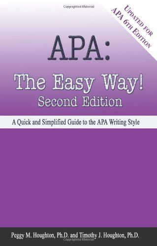 apa the easy way updated for apa 6th edition products