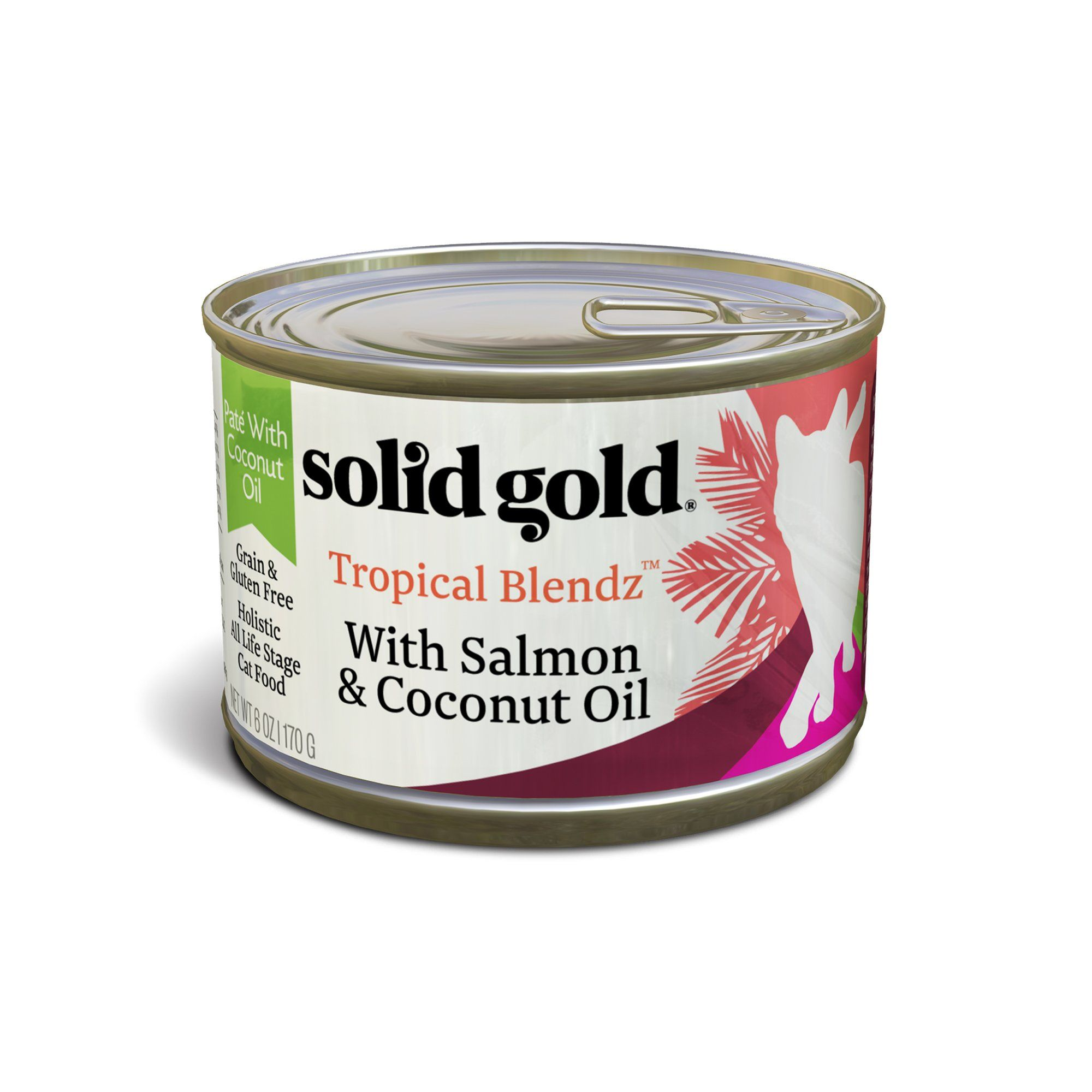 Solid Gold Tropical Blendz Salmon & Coconut Oil Pate Cat